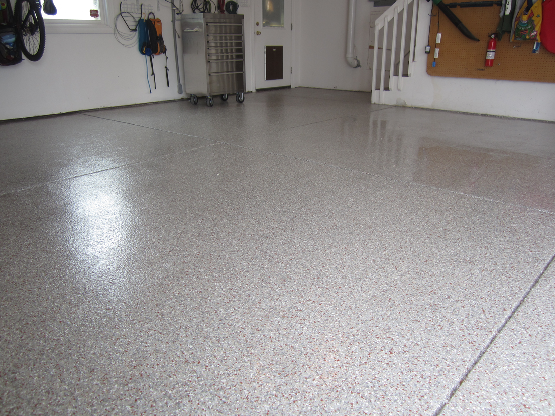 Fort Collins Residential Garage Co Epoxy With Decorative Vinyl Chip Lication