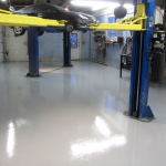 – solid colored epoxy application