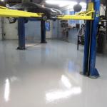 – solid colored epoxy application